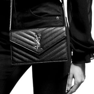 YSL • Envelope Chain Wallet Crossbody